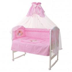 Комплект в кроватку  Аленка 7 предметов, розовый 161367
