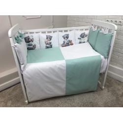 Комплект в кроватку панно Милый мишка 6 предметов, Арт.40076