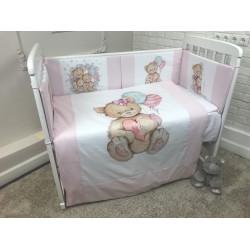 Комплект в кроватку панно Воздушный шарик 6 предметов, Арт.40077