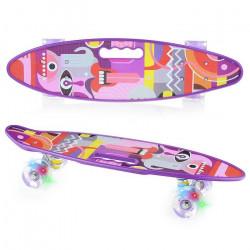 Скейт, светящиеся колёса U040864Y