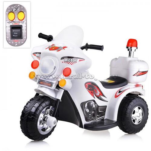 Мотоцикл на аккумуляторе, белый, U009148Y