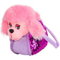 """JB0572045 """"Пушистые друзья"""" Собачка мягкая в сумке с пайетками"""