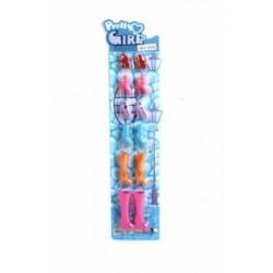 100606855 Набор обуви для куклы 6 пар