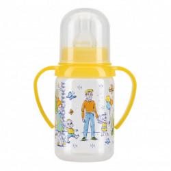 Бутылочка полипропиленовая с ручками с силиконовой соской 125 мл.
