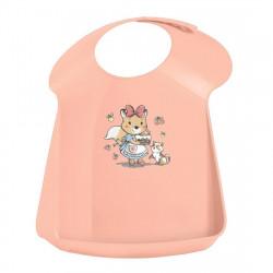Нагрудник детский светло-розовый 43132703351
