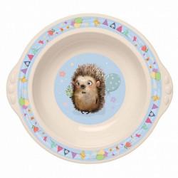 Тарелка детская глубокая с голубым декором 431315907