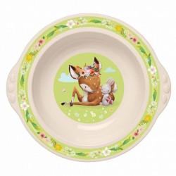 Тарелка детская глубокая с зеленым декором 431316207