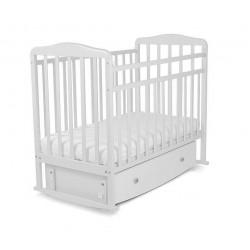 """Кровать детская """"Митенька"""" поперечный маятник с ящиком, арт. 168001 белый"""