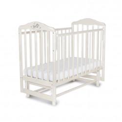 """Кровать детская """"Малика"""" с маятником Зебра, белая 214001"""