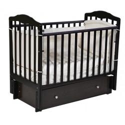 """Кровать детская """"Алита"""" (4/6) автостенка, универсальный маятник, закрытый ящик,венге"""