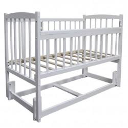Кроватка Беби 3 продольного качания без ящика белый