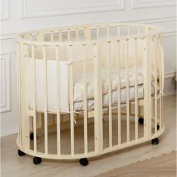 Кровать детская Incanto Gio Deluxe 8 в 1 слоновая кость (колесо)