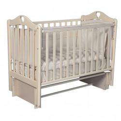 """Кровать детская """"Каролина"""" автоспуск-кнопка, маятник универсальный, слоновая кость"""