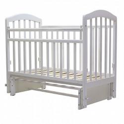 32 Кровать детская 120*60 ЛИРА 5 универ.маят/без ящ.(белый)