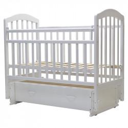 30 Кровать детская 120*60 ЛИРА 7 универ.маят/ящ.(белый)