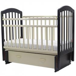 30 Кровать детская 120*60 ЛИРА 7 универ.маят/ящ.(венге/слоновая кость)