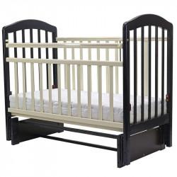 Кровать детская 120*60 ЛИРА 5 универ.маят/ящ.(венге/слоновая кость)