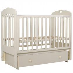 Кровать детская 120*60 Мария 6 с сердечком пп маят/ящ.(слоновая кость)