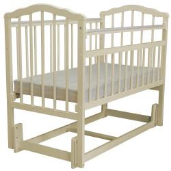 """Кровать детская Malika """"Melisa-3"""" продольное качание, без ящика, слоновая кость"""