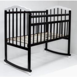Кровать детская MELISA-2 LUX  колесо-качалка, шоколад-белый