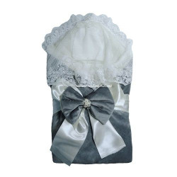 Комплект на выписку Кристалл 7 предметов серый 129К-2Ш