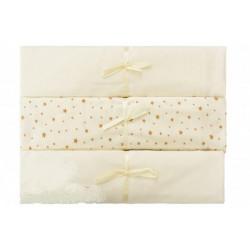 Подарочный набор пеленок 3 шт (кулирка) 100*120