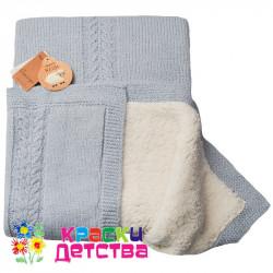 Одеяло, CAS 434007 серо-голубой