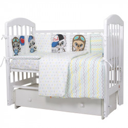 Комплект в кроватку Мальчики  6 предметов перкаль  607
