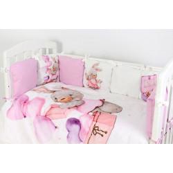 Комплект в кроватку Модница  6 предметов 686