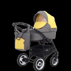 Коляска NOVA (BartPlast) 05 серый-желтый
