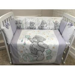 Комплект в кроватку панно Мишка Тедди 6 предметов, Арт.40090