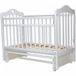 Кроватка детская Топотушки Оливия 5 с сердечком маятник универсальный белый
